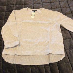 NWT J Crew grey sequin sweater Size S